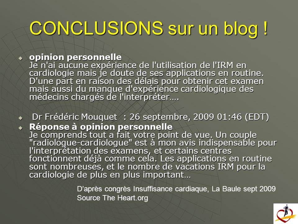 CONCLUSIONS sur un blog !