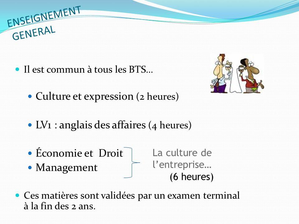 ENSEIGNEMENT GENERAL Culture et expression (2 heures)