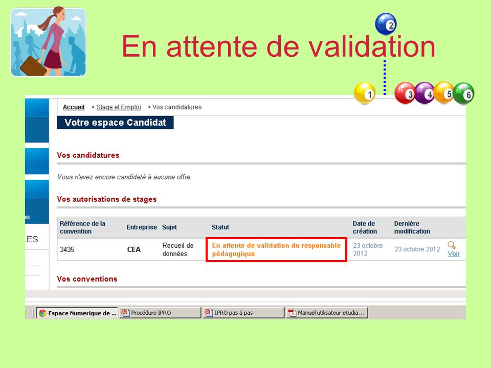 En attente de validation