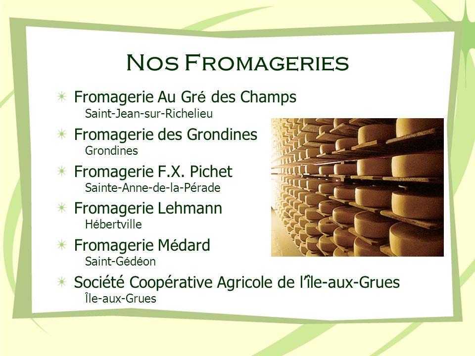 Nos Fromageries Fromagerie Au Gré des Champs Saint-Jean-sur-Richelieu
