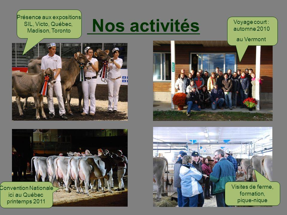 Nos activités Présence aux expositions SIL, Victo, Québec,