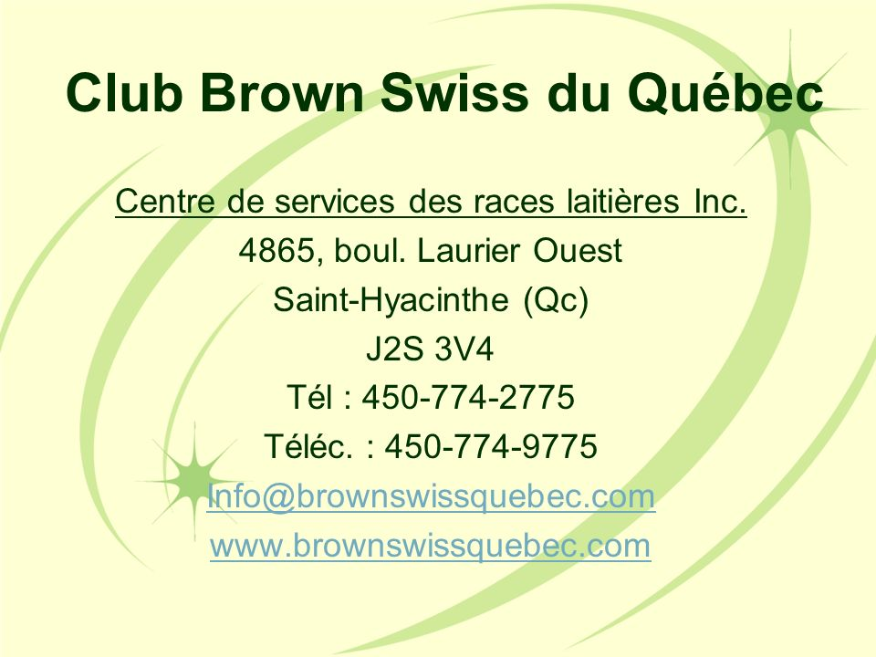 Club Brown Swiss du Québec