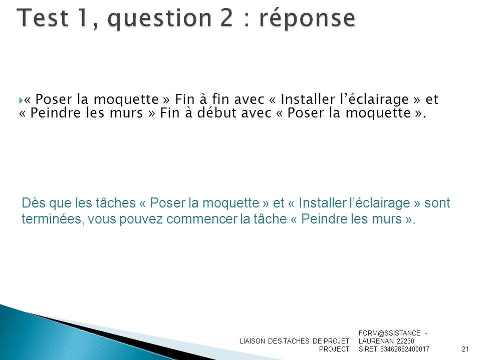 Test 1, question 2 : réponse