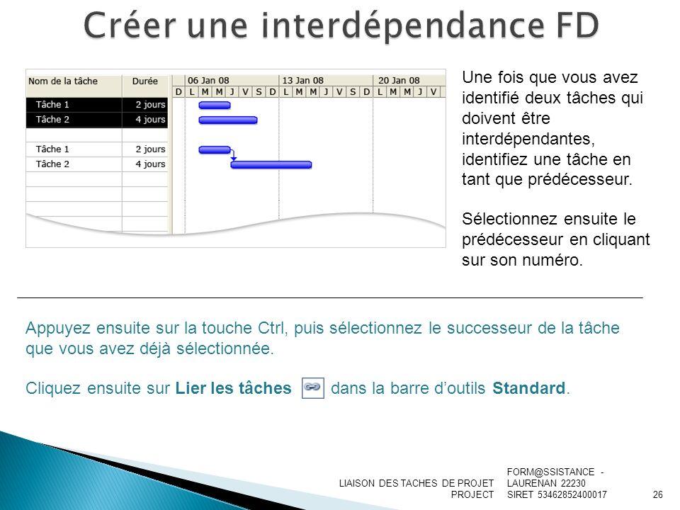 Créer une interdépendance FD