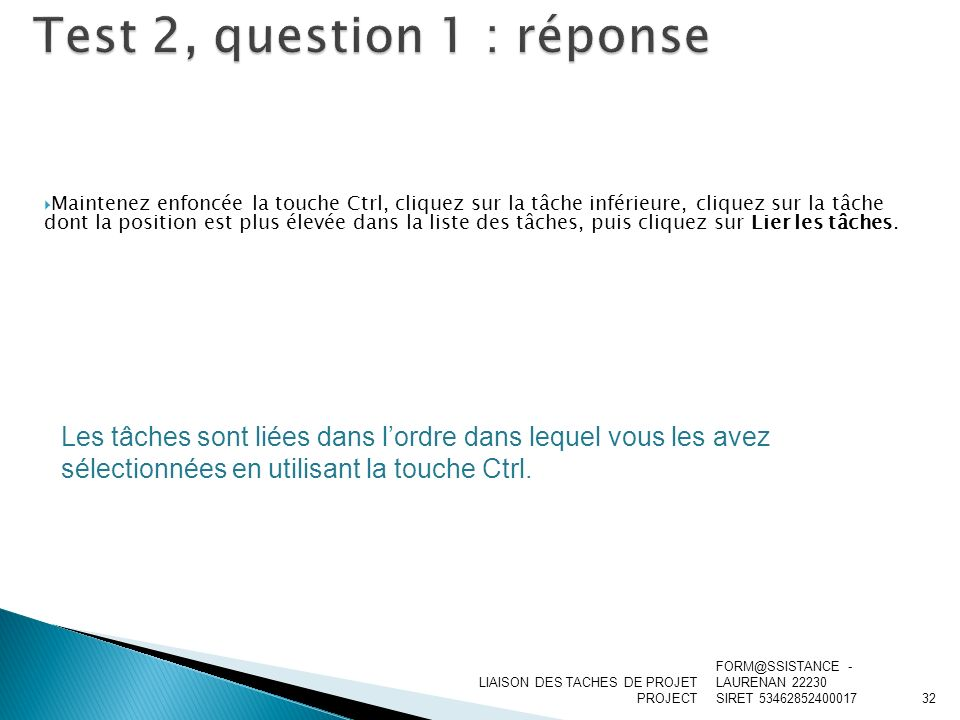 Test 2, question 1 : réponse