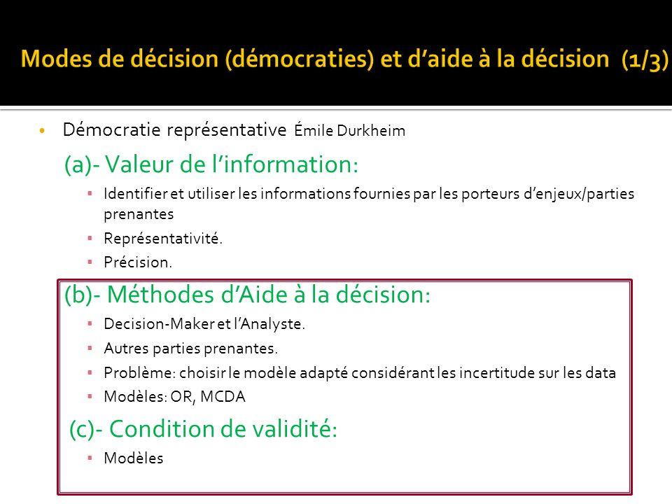 (a)- Valeur de l'information: