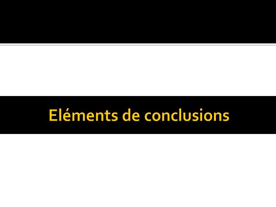 Eléments de conclusions