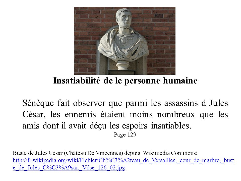 Insatiabilité de le personne humaine