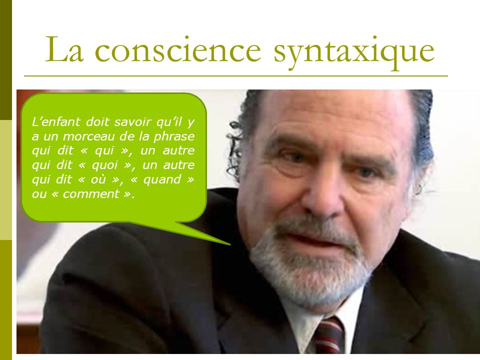 La conscience syntaxique