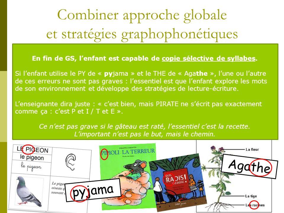 Combiner approche globale et stratégies graphophonétiques