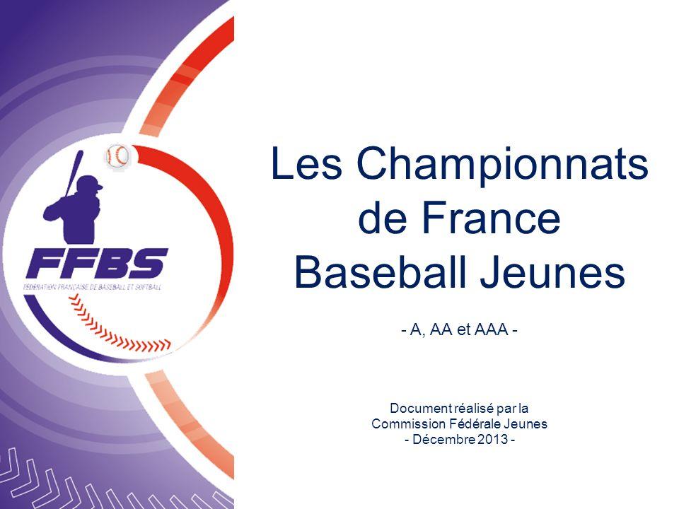 Les Championnats de France Baseball Jeunes