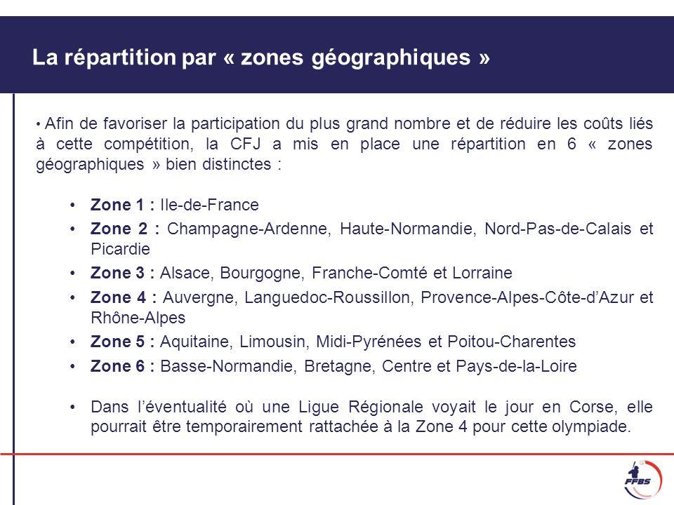 La répartition par « zones géographiques »