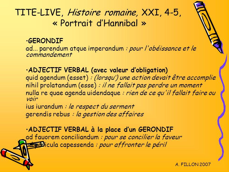 TITE-LIVE, Histoire romaine, XXI, 4-5, « Portrait d'Hannibal »