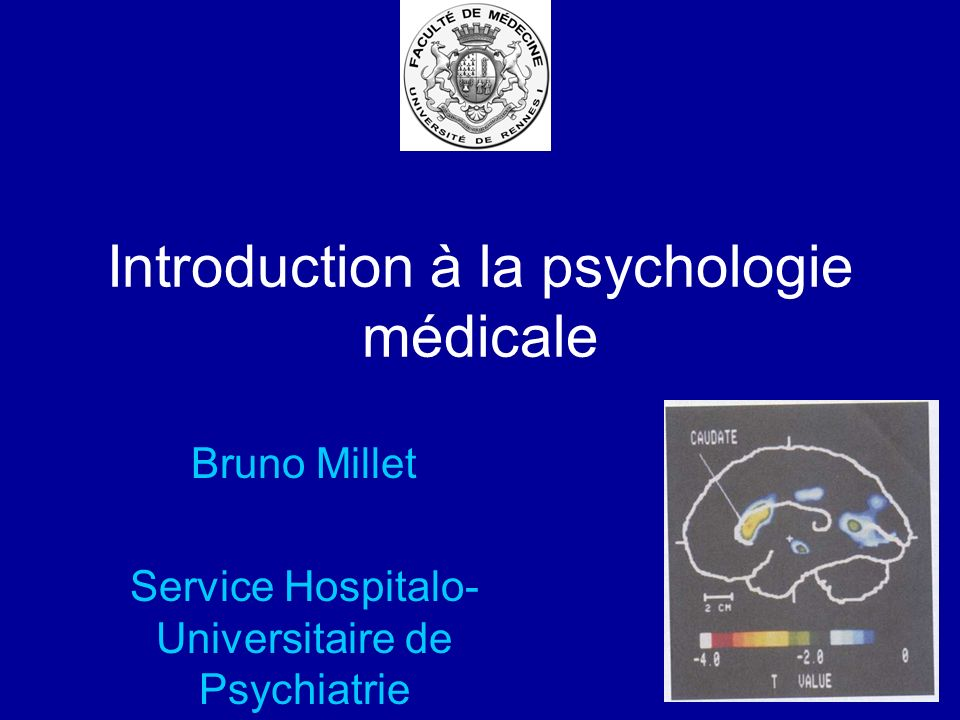 Introduction à la psychologie médicale