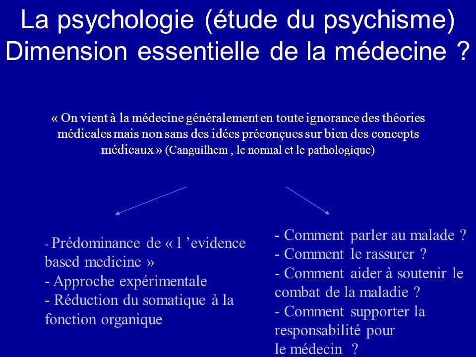 La psychologie (étude du psychisme)