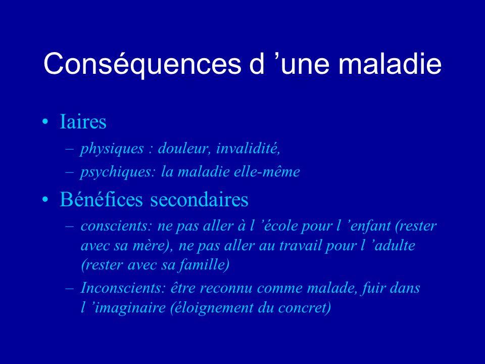 Conséquences d 'une maladie
