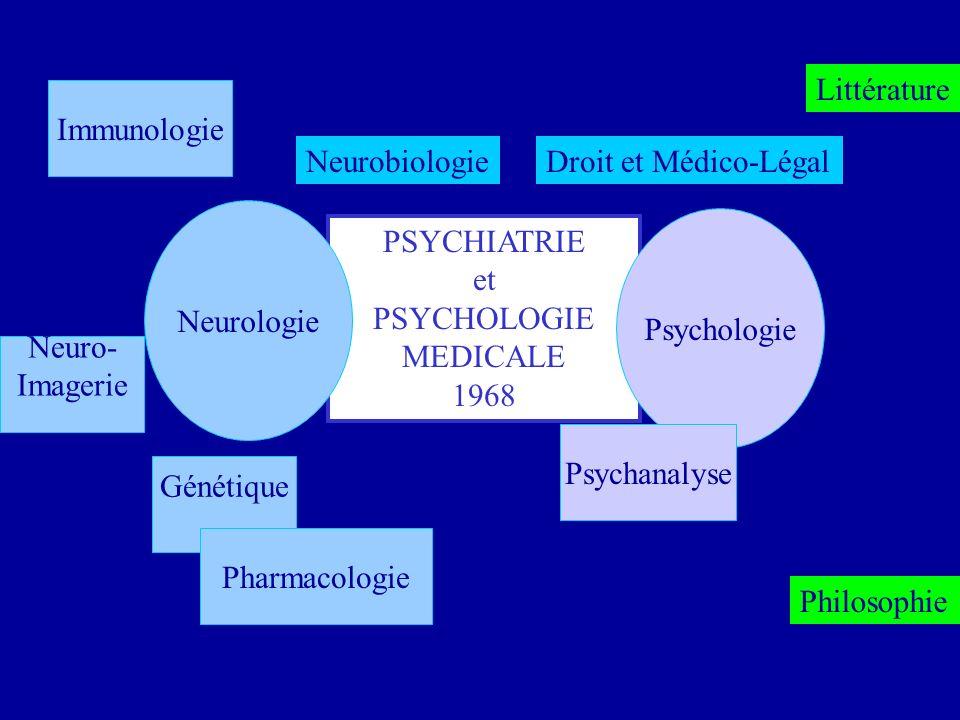 Littérature Immunologie. Neurobiologie. Droit et Médico-Légal. Neurologie. Psychologie. PSYCHIATRIE.