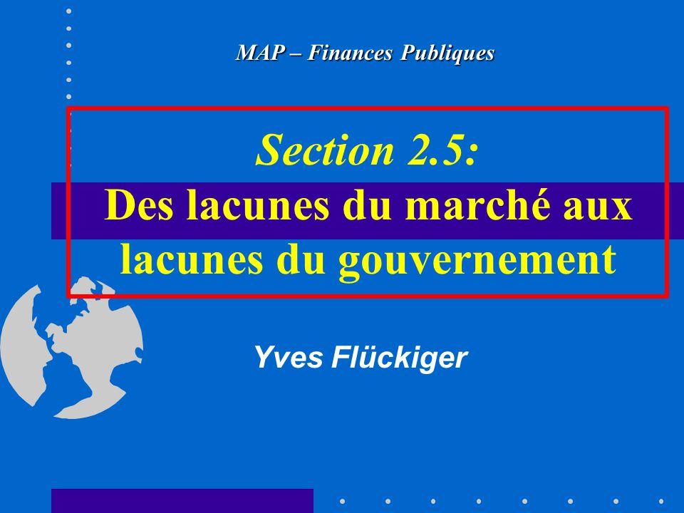 Section 2.5: Des lacunes du marché aux lacunes du gouvernement