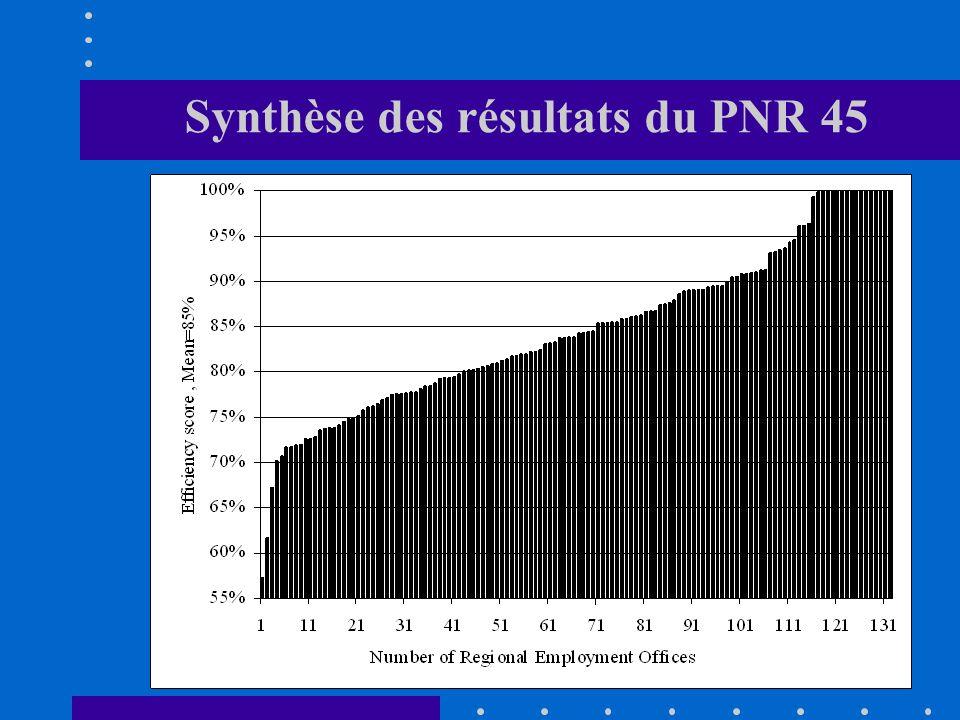 Synthèse des résultats du PNR 45