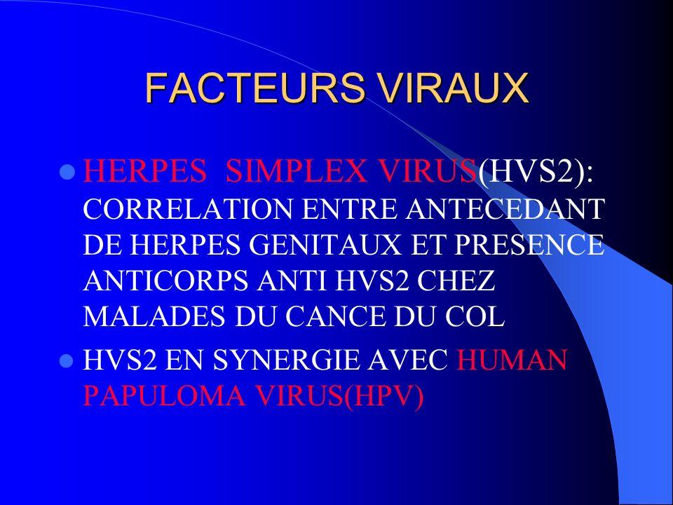 FACTEURS VIRAUX