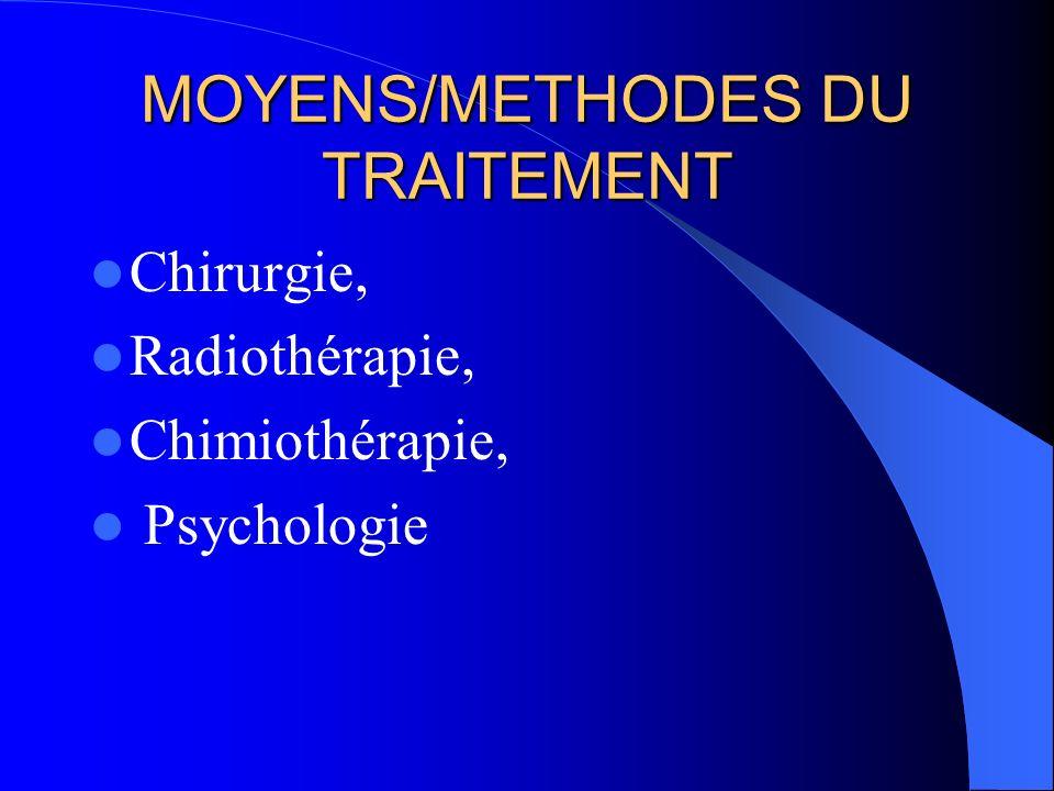 MOYENS/METHODES DU TRAITEMENT
