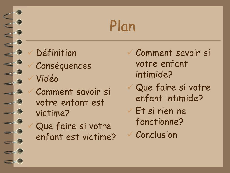 Plan Définition Conséquences Vidéo