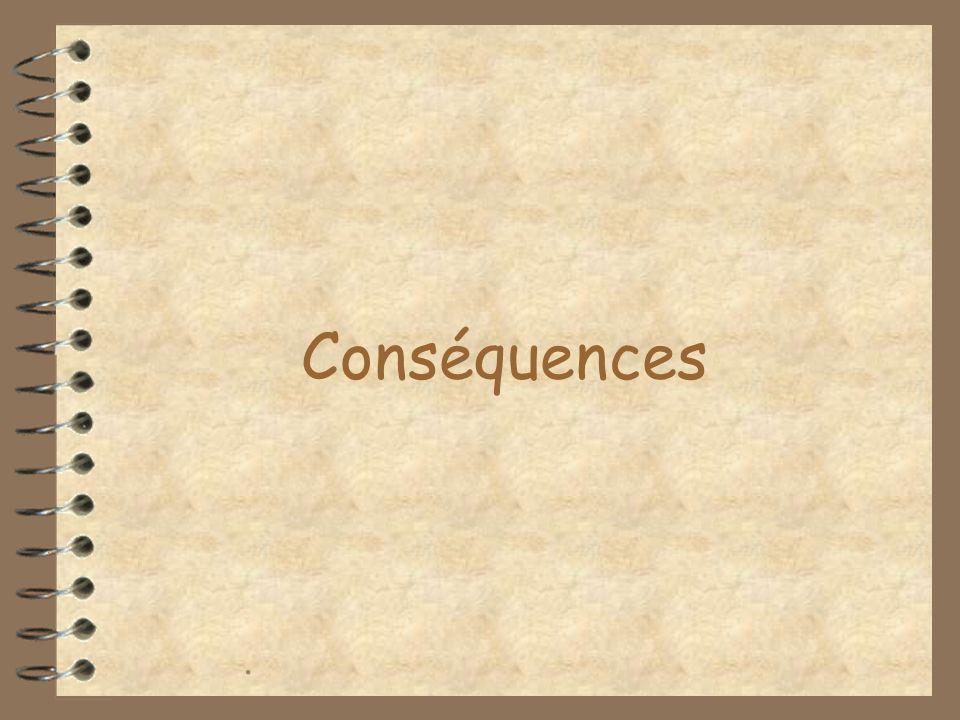 Conséquences .