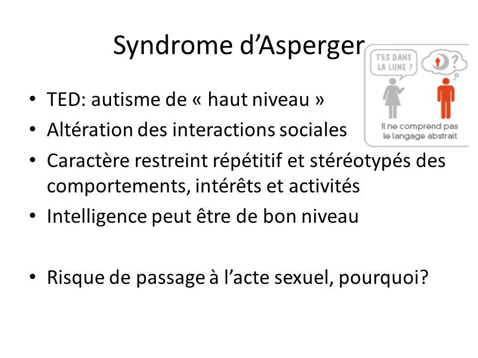 Syndrome d'Asperger TED: autisme de « haut niveau »