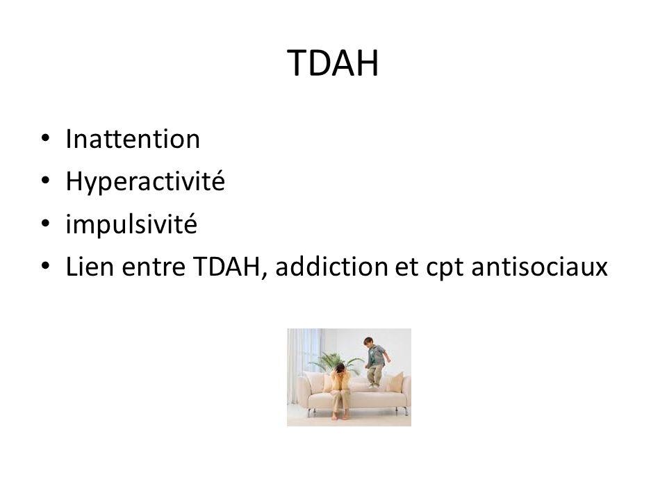 TDAH Inattention Hyperactivité impulsivité