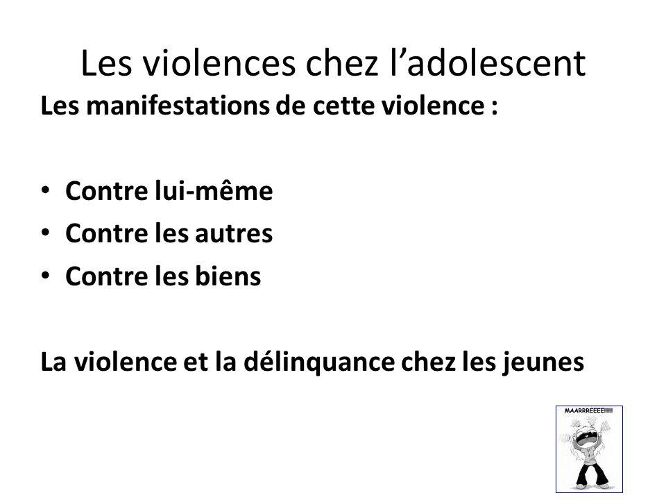 Les violences chez l'adolescent