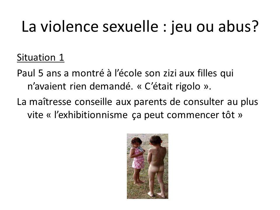 La violence sexuelle : jeu ou abus