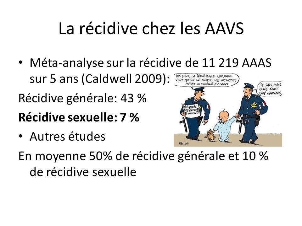 La récidive chez les AAVS