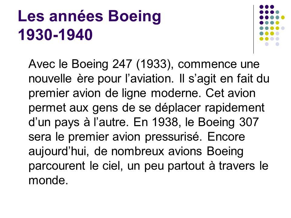 Les années Boeing 1930-1940