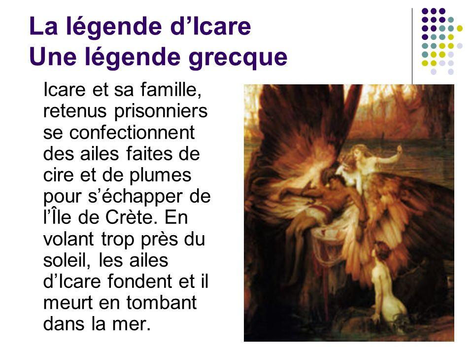 La légende d'Icare Une légende grecque