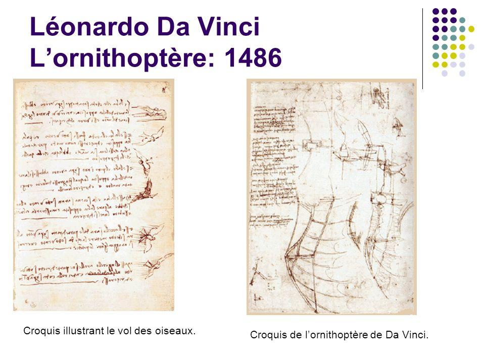 Léonardo Da Vinci L'ornithoptère: 1486
