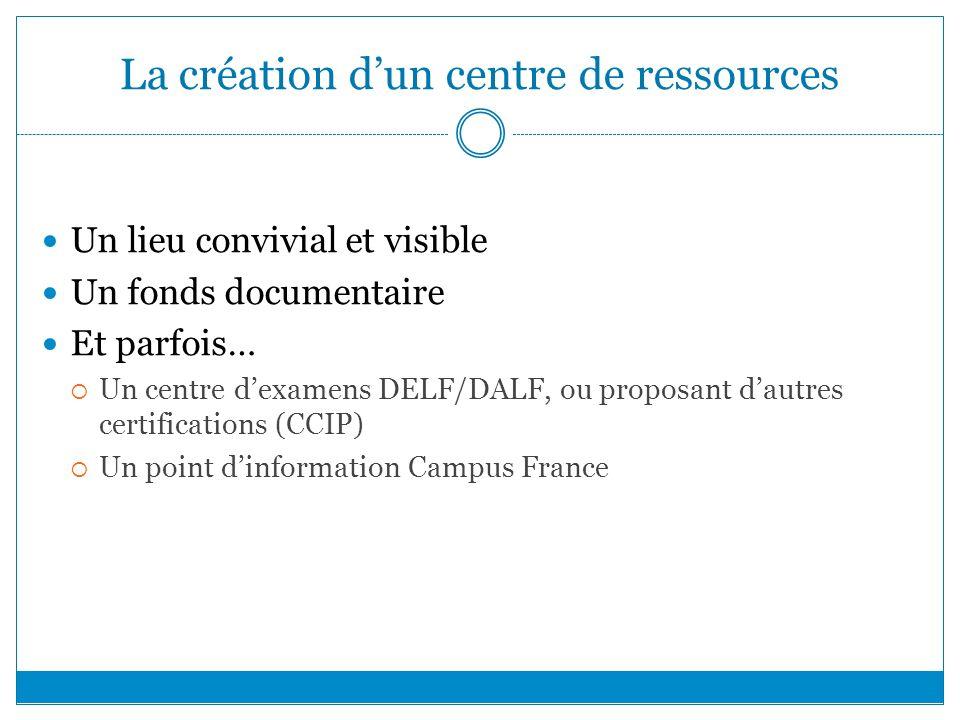 La création d'un centre de ressources