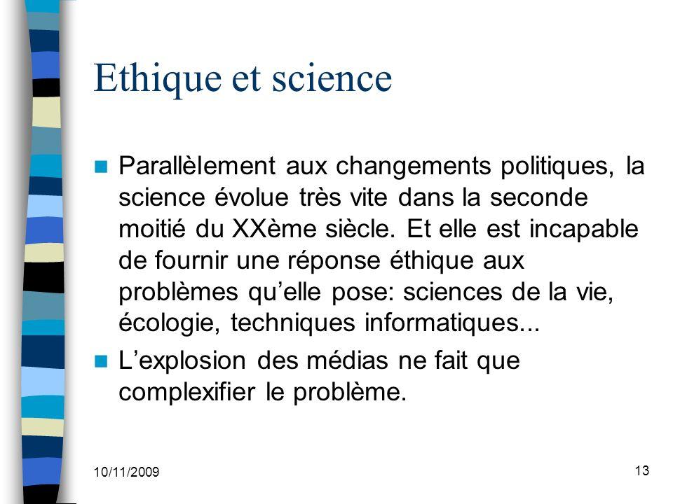 Ethique et science