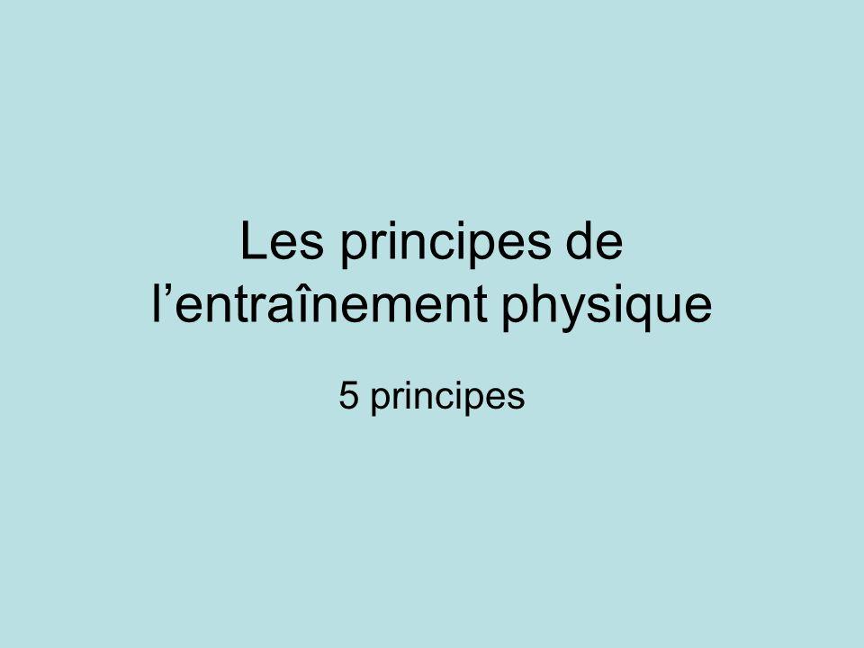 Les principes de l'entraînement physique