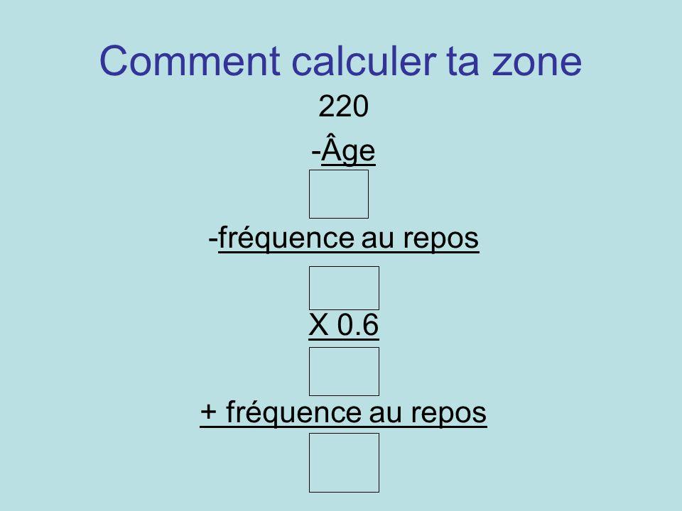 Comment calculer ta zone