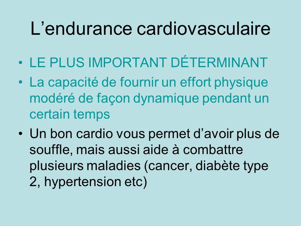 L'endurance cardiovasculaire