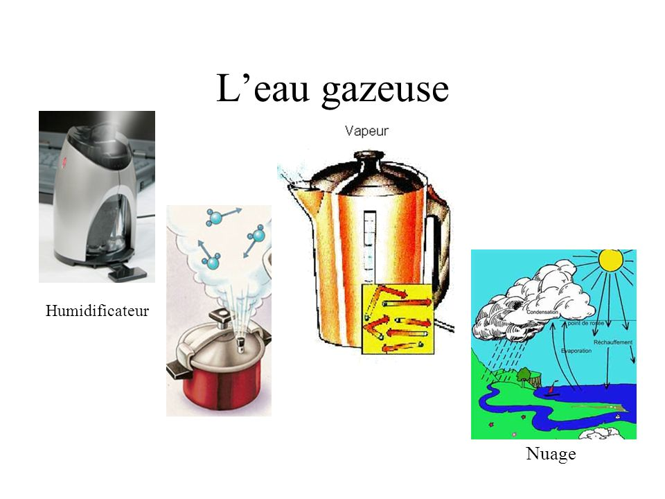 L'eau gazeuse Humidificateur Nuage