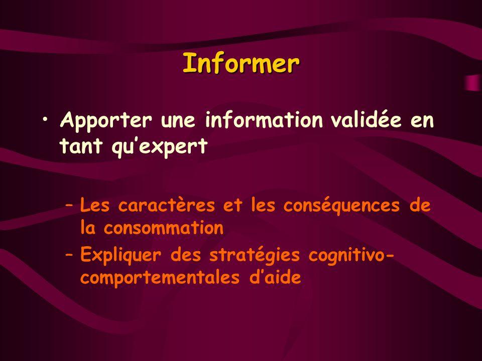 Informer Apporter une information validée en tant qu'expert