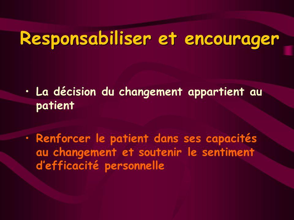 Responsabiliser et encourager