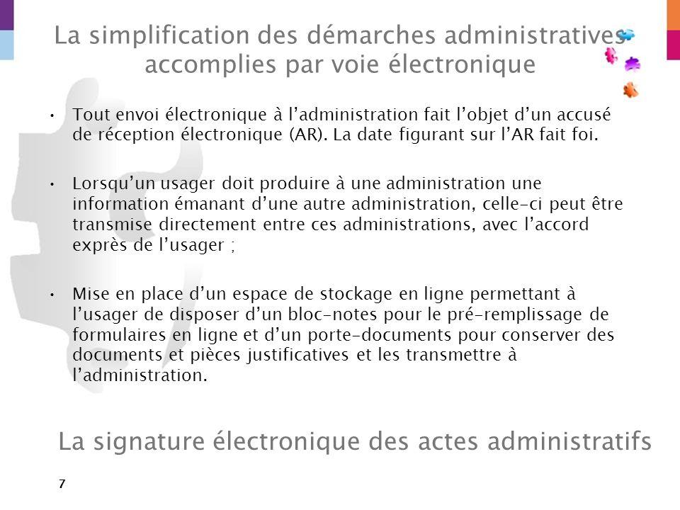 La signature électronique des actes administratifs