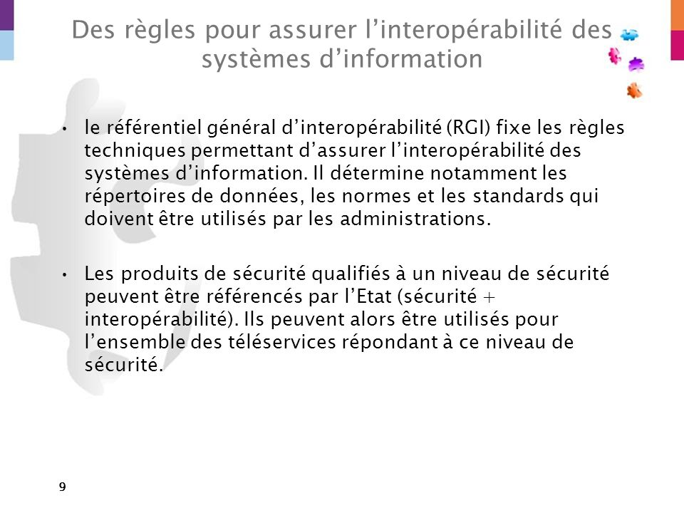 Des règles pour assurer l'interopérabilité des systèmes d'information