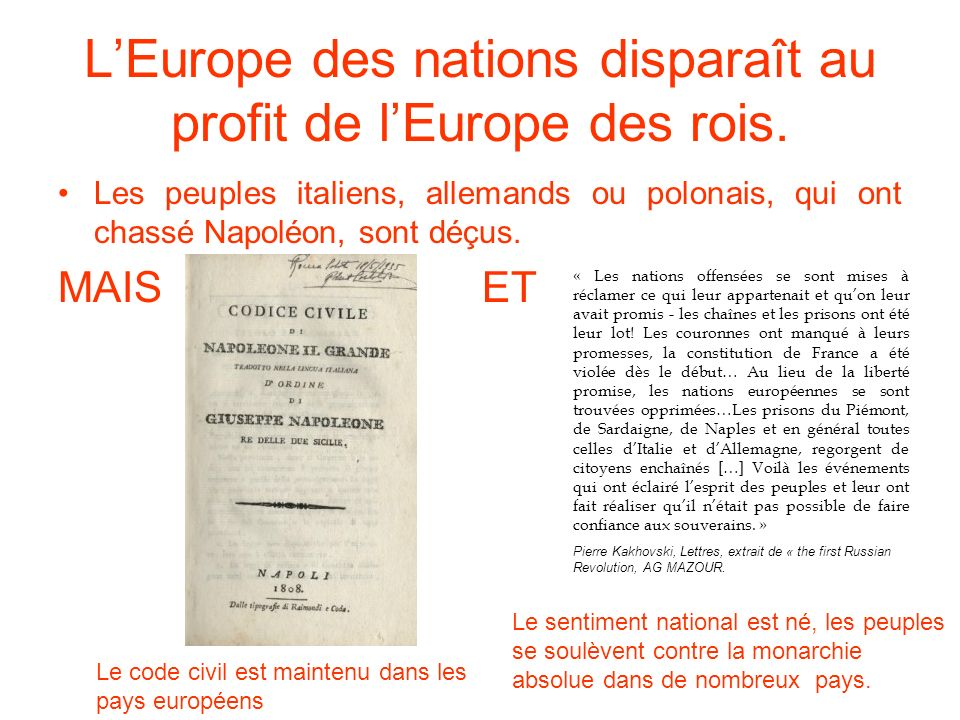 L'Europe des nations disparaît au profit de l'Europe des rois.