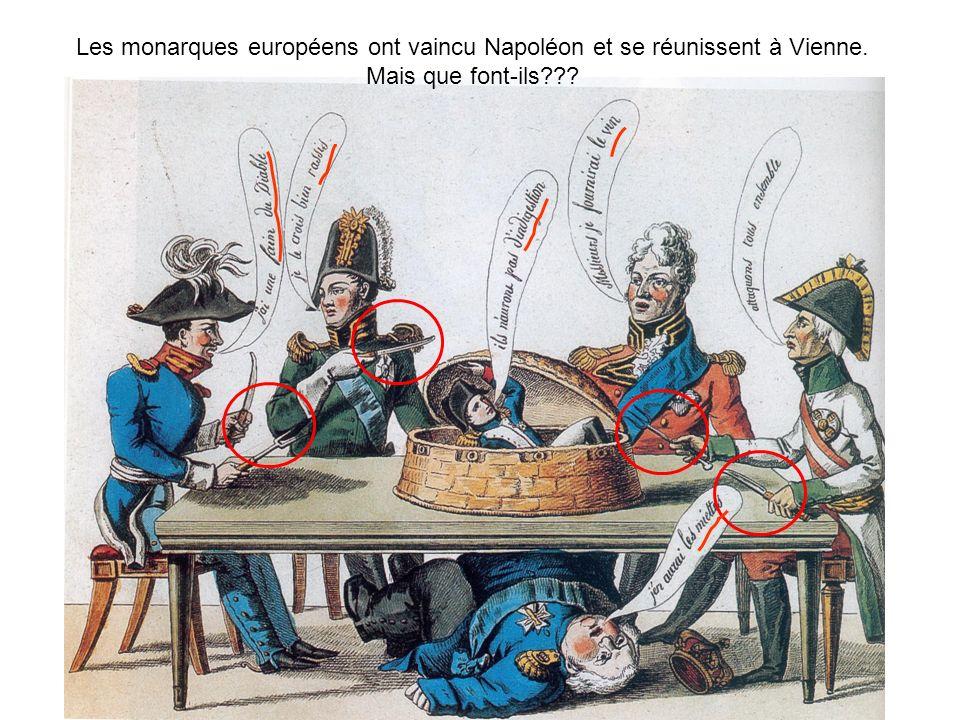 Les monarques européens ont vaincu Napoléon et se réunissent à Vienne