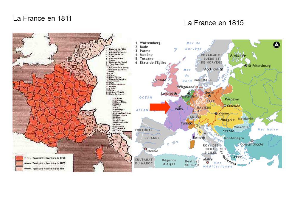 La France en 1811 La France en 1815