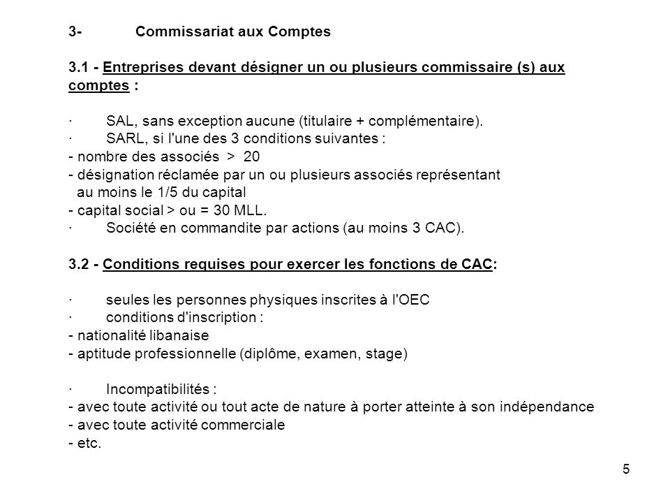 3-. Commissariat aux Comptes 3