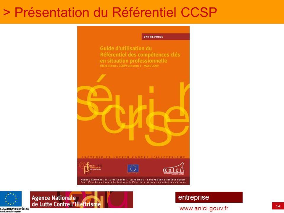 > Présentation du Référentiel CCSP